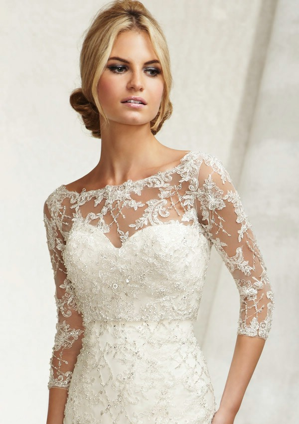 Wedding dresses with lace coats : Style be wedding jacket appliqued lace beaded bridal