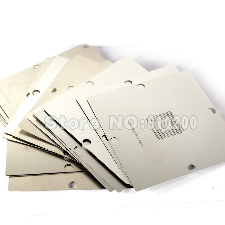 Free shipping 23pcs/set Stainless Steel BGA Reballing Stencil BGA Reballing Kit for game machine XBOX PS3 CXD WII GPU CPU Repair(China (Mainland))