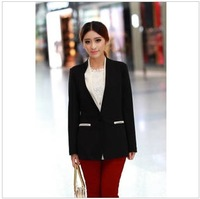 2013 new Autumn Korean version of the temperament long-sleeved and long sections Slim suit jacket coat occupation wild tide ship