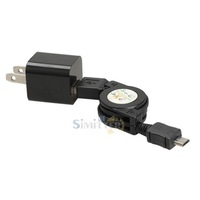S1M# Micro USB to USB Retractable Data Sync Charging Cable Power Adapter