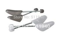 Free shipping, 2 paris/lot 32x10x4cm plastic, steel shoe tree