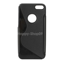 BUH9 Classic Soft Silicon Back Case Cover Protector for iPhone 5 Black