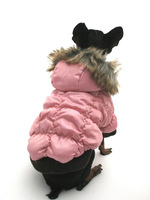 C09028 Fashion NEW Teddy Autumn Winter Jacket Coat Dog Pet Clothes Warm Fur Princess Pink Sz XS S M L XL