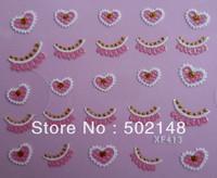 new designs pretty 3d flower nail sticker, beauty salon