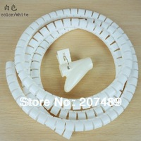 1M size S 16mm Zip Wire cable Storage tube holder tidy manager Organizer ties Kit Hub for computer office home wholesale retail