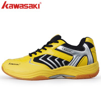 Free Shipping 1 Pair breathable KAWASAKI Badminton shoes bumblebee wear-resistant ultra-light