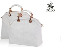 Free Shipping 2013 High quality PU Genuine WEIDIPOLO brand composite cow leather totes Croco modern design women handbags