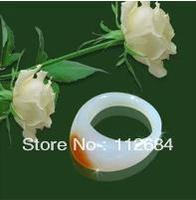 Natural jade ring * man white agate rings