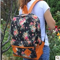 shoulder bags Canvas bag student school bag preppy style vintage floral print cloth backpack casual female bags