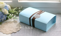 West sweet  cake box blue Large horse macaron  packing  biscuit box food decor storage 20 pcs a lot set gift for wedding