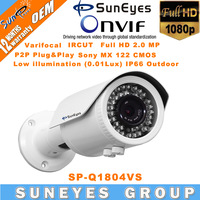 SunEyes ONVIF Full HD 1080P IP Camera Outdoor SONY Sensor with 4-9mm Varifocal Lens IP66 Waterproof IR Night Vision SP-Q1804VS