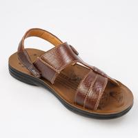 Korean version of the new men's leather Discounted tide  slippers for men men sandals designer sandals