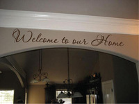 5pcs/lot Wall Sticker Decal Quote Vinyl Welcome To Our Home Entry Decor Wall Quote Decal