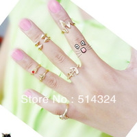 2013 New Fashion New Nail Finger Midi Knuckle ring 6 designs available wholesale/retailer