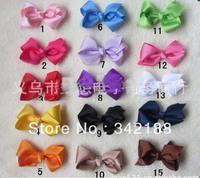 2014 100pcs/lot Chunky Solid Hair Bows Medium Boutique Hair Bow