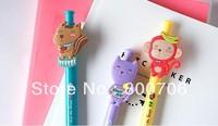 Free Shipping !  96 Pcs / Lot Cute Forest Animal 0.5mm Blue Ball Pen / Ballpoint Pen
