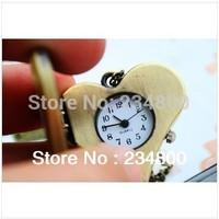 Free Shipping Retro Hppy Hart-shaped Qartz Lanyards Watch  (3.1 * 2.8cm)