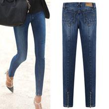 2013 autumn low-waist jeans female skinny pants elastic denim trousers slim pants