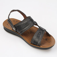 Korean version of the new men's leather Discounted tide  leather genuine leather  wedges shoes