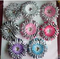 2014  New selling baby hot style 8pcs headband zebra head flower 200pcs