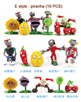 Plants VS . Zoombies toys pvc Material Doll Classic match Shatterproof dolls  for children 10pcs/set free shipping