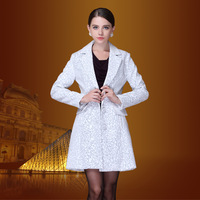 Formal woolen overcoat 2013 elegant brief ol slim woolen outerwear women's medium-long