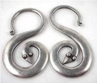 Chinese Minority Tribal jewelry Miao Silver Earring Fashion Free shipping 12