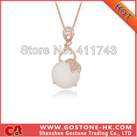 DZ1071 Luxury Classic Style Necklaces Pendant , Real S925 Sterling Silver Rose Gold & Platinum Plated Rhinestone