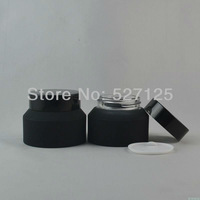 50pieces/lot High quality 50g black cream jar,cosmetic jar,glass jar or cream container,eye cream jar