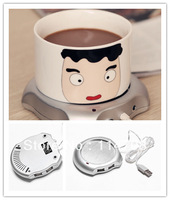 Free Shipping USB Gadgets Vacuum Cup Pad  New USB 4 Ports Hub Warm Coffee Cup Warmer Gadget Heater