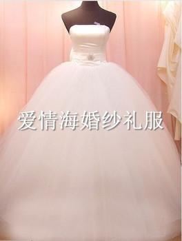 Hot-selling big train wedding dress bow wedding dress