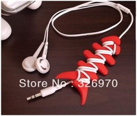 Free shipping  120pcs/lot Solid fish bone router ear wire winder for MP3 cell phone 4s 5