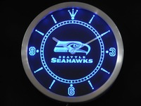 nc0517 Seattle Seahawks Neon Sign LED Wall Clock Wholesale Dropshipping