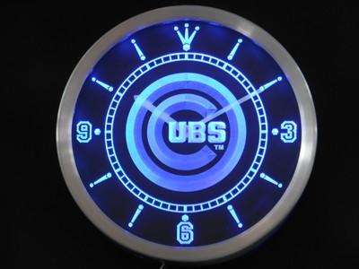 nc0564-b Chicago Cubs Neon Sign LED Wall Clock Wholesale Dropshipping(China (Mainland))