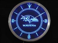 nc0521 Baltimore Ravens Neon Sign LED Wall Clock Wholesale Dropshipping