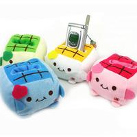 Hot Sale Cute Cartoon Plush Soft Tofu Baby Cell Phone Holder Cell Phone Holder HG-03373