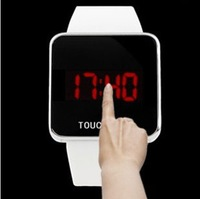 Free shipping 2013 new High Quality Wholesale Fashion women silicone LED Mirror Silicone Watch Many Color Available for men Y057