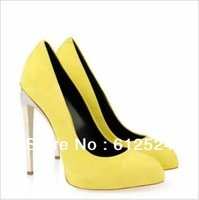 black/blue/pink/red/silver/yellow stiletto heel women wedding pumps suede leather party dress shoes