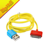 Free Shipping 1-Meter USB 2.0 Data Cable for iPad / iPad 2 / iPhone / iPod (Yellow)
