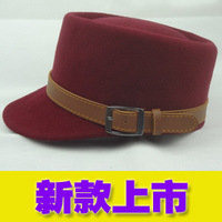 2013 fashion flat military hat fashion knight cap buckle hat vintage benn helmet-hat