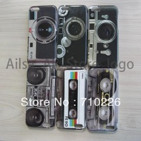 100 pcs new arrival Hard Back Cover Case for iPhone 5C, Classic Tape Skin Case free shipping