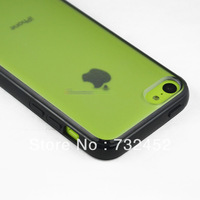 New Arrival 10 Colors For iPhone 5C Matte Clear Back Cover Case w/ Soft Bumper,TPU + PC Material,10pcs/Lot,ePacket Shipping