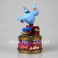 free shipping creative unusual boyfriend girlfriend birthday gifts Aladdin magic lamp  Music box 6.5*6.5*16cm