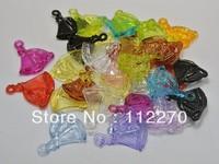 100pcs 24*22mm Transparent DIY sailing boat beads Pendants DIY Accessory Free shipping