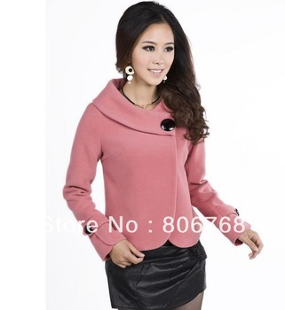 women's jacket 2013 autumn -summer winter women's elegant wool jacket short design wool coat plus size trench outerwear