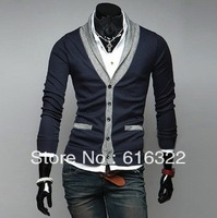 han edition men's cultivate one's morality fashion v-neck long-sleeve sweater