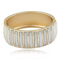 ()Designer!  NEW! HQ! Fashion Luxury Dimensional Metal Stripes Simple Elegant Chunky Cuff Bangle Bracelet