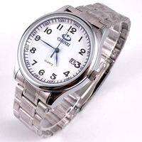 Free Shipping 2013 Fashion Luxury Brand For Men Simple Genuine waterproof  watch 010