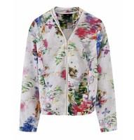 2013 fashion women floral  zipper jacket