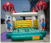2013 top quality mushroom colorful inflatable bouncy castle/bouncy house for free shipping/Kids & Adults Juegos Inflables